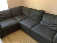 HYGENA SEATTLE CHARCOAL GREY CORNER SOFA BED GREAT CONDITION CAN DELIVER