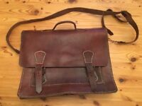 Leather messenger style bag