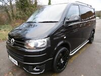 VW T5 140 TDI 6-speed 5-door SWB Kombi Twin-slider in Black