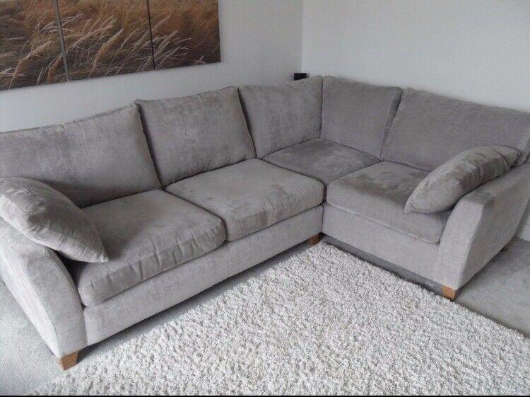 Next Alexis Corner Sofa In Mid Silver In New Milton
