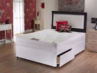 🚚🚛LAST FEW OF MAY SALE 🚚🚛BRAND NEW DEEP QUILT DIVAN BED SET w MATTRESS 3FT 4FT6 Double 5FT King