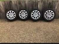 """16"""" 5x112 Genuine Seat Lean Vw Golf Caddy Alloy Wheels Alloys With Snow Tyres winter"""