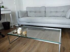 glass coffee table modern boconcept lugo designer excellent condition