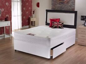SAME DAY DELIVERY *** CHEAPEST PRICE!! BRAND NEW DOUBLE DIVAN BASE WITH SEMI ORTHOPEDIC MATTRESS --