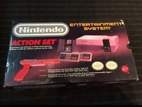 Nintendo action set in box.  Nice shape, works great