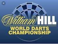 6 x World Darts Championships TABLE seats, FACE VALUE - SATURDAY 16th Dec, EVENING Session (7.30)
