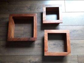 Stylish square box shelves