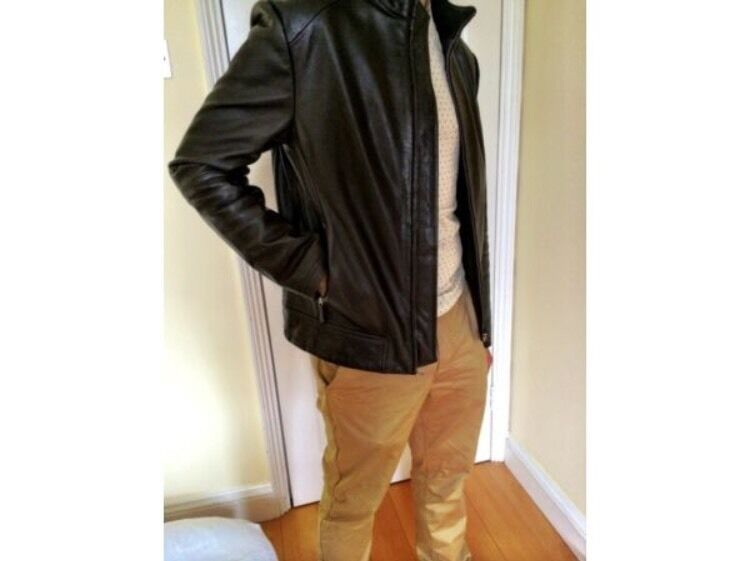 Brown Leather jacket from Reissalmost newin Islington, LondonGumtree - HeyI have a Reiss brown leather jacket for sale. I barely worn it and it is really good condition .Motorcycle style with a zip in the middle .Size MThanksPaul