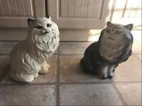 Large Persian Cat figurines