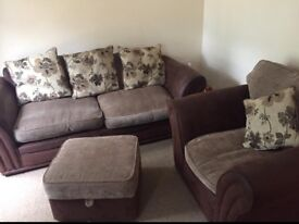 Sofa chair and footstool from dfs