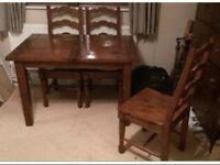 Irish Coast Table and 4 Chairs Extendable