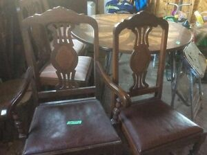 Six Vintage Solid Wood Chairs -- GORGEOUS!