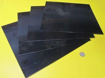 Delrin Pom Acetal Black Sheet 116 .063 X 12 X 12 4 Units