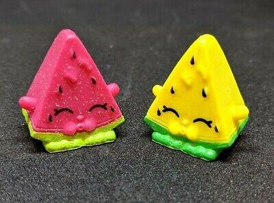 Shopkins Lot Season 1 Melonie Pips Pair Set- Ultra Rare Pink & Yellow Glitter