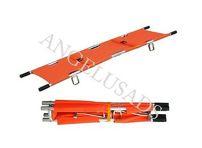 Medical Emergency Aluminum Alloy Folding Portable Stretcher Equipment Camilla