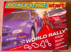 Scalextric Start set, 2 cars, extra track