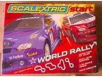 Scalextric Start set, 2 cars, extra track
