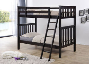 Single over Single Bunk Bed, Solid Hardwood, by Bunk Beds Canada