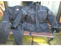 Lewis XXL motorcycle 2 piece suit with protection and linings