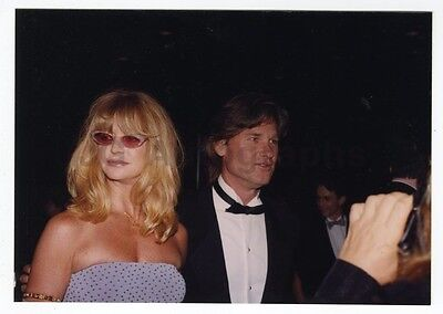 Kurt Russell   Goldie Hawn   Vintage Candid Photograph By Peter Warrack