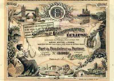Société Générale des Cinématographes Éclipse Paris 1907 Tower Brigde Notre Dam #