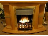 ELECTRIC FIRE WITH SURROUND, LIGHTS & REMOTE 12, 30 & 46 inches