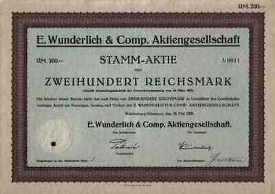E. Wunderlich 1925 Waldenburg Freiburg Glogau Altwasser 200 RM Schlesien Polen