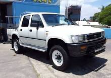 1993 Toyota Hilux SR5 LN107R 4X4 dual cab 2.8L diesel TIDY- $6990 South Brisbane Brisbane South West Preview