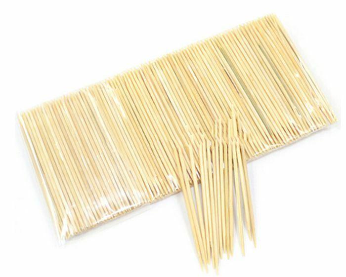 250 Zahnstocher aus Bambus Zahn Stocher Nachfüllpack