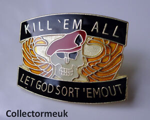 Army-Red-Beret-Kill-Em-lapel-pin-badge-with-Skull-Wings-Military-Skull-Marines