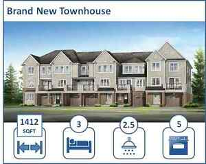 Brand New 3 Bdrm, 2.5 Bath Kitchener Wildflowers Townhome, FEB 1
