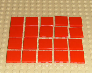 Lego Red Flat Tile 2x2 20 pieces NEW!!!
