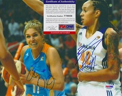 Elena Delle Donne Brittney Griner Signed Autograph 8 X 10 Photo Psa Dna