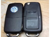 VW SEAT SKODA 2 BUTTON REMOTE KEY CUT AND PROGRAMMED 1JO 959 753 AG/1J0 959 753 CT