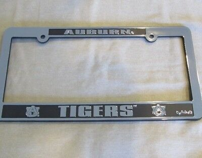 Auburn Tigers Auto License Plate Tag Frame Chrome Film and Black