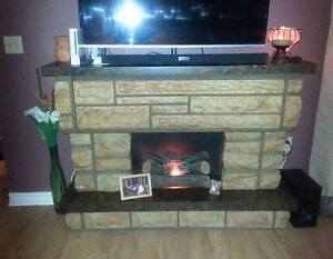 Vintage 1970's Fireplace In Working Condition