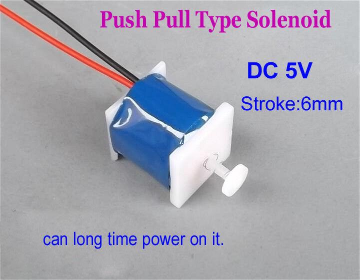Micro DC5V 6mm Suck Push Pull Type Solenoid Electromagnet Magnet Solenoid Stroke