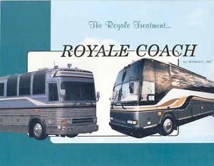 1992 Monaco Royale Bus Motorhome RV Brochure Prevost Wj7179 JZXFZE