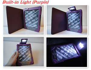 Stylish Leather Case Cover with LED Light for Amazon Kindle 4th/5th gen.(6 inch)