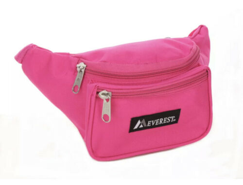 Everest Regular Size Fanny Pack. BLACK AND PINK