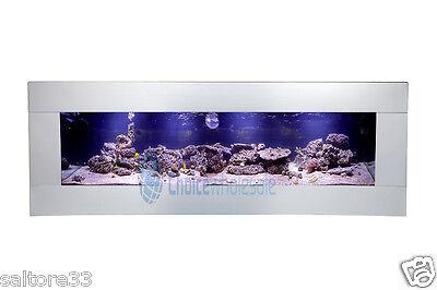 90cm NEW Stainless INTERIOR DESIGNER ARTISTIC WALL AQUARIUM FISH TANK LIVE ART
