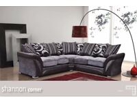 BEST SELLING BRAND** Brand New SHANNON Corner Or 3 + 2 Sofa, SWIVEL CHAIRS, Universal corner Sofa