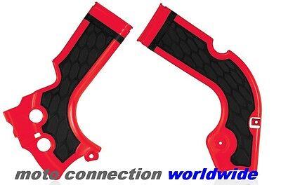 HONDA CRF250 R 2014 MOTOCROSS ACERBIS X-GRIP FRAME GUARDS RED / BLACK 17573