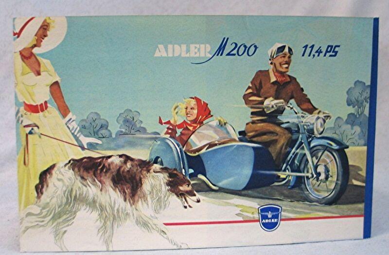 Vintage German Triumph Motorcycle Literature