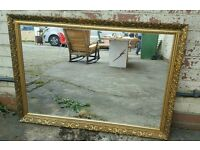 LARGE VINTAGE STYLE ORNATE GOLD FRAMED MIRROR