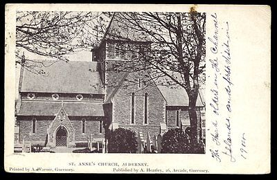 Channel Islands ALDERNEY St Anne's Church 1904 PPC fine postmark