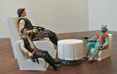 Star Wars Custom Cantina 2 chairs and table 3.75 inch scale