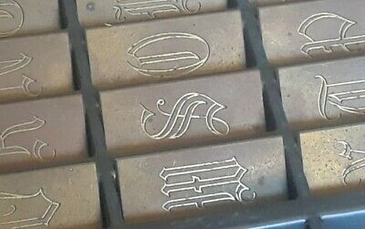 New Hermes Gravograph 35-365 Engraving Type Old English Font Uppercase Complete