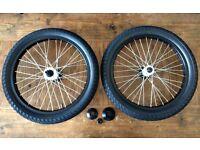 BRAND NEW Freecoaster LHD wheelset + hubguards & Eclat tyres. Salt plus hubs, rims bmx bike
