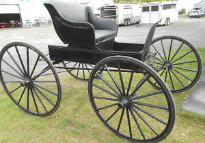 RUBBER TIRED, RESTORED RUNABOUT BUGGY